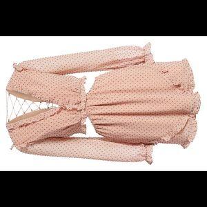 WAYF cut out lace up dress